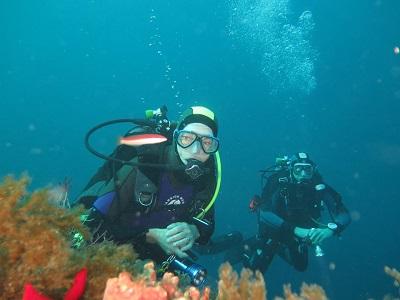 plongeurs en explo